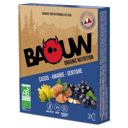 Barre énergétique Baouw Bio Cassis Amande Gentiane - montisport.fr