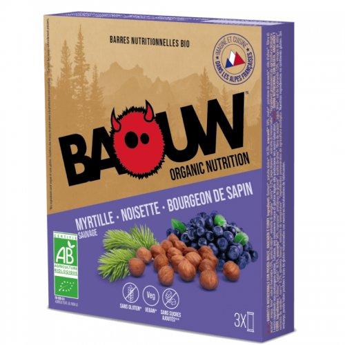 Barre énergétique Baouw Bio Myrtille Noisette Bourgeon de Sapin - montisport.fr