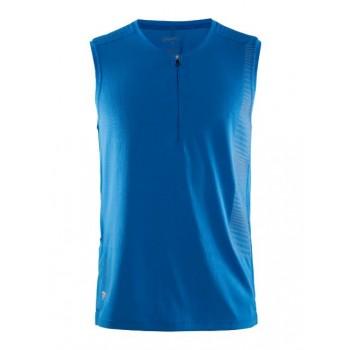 T-shirt sans manches Running /Trail Craft Grit avec  Zip- Homme - www.montisport.fr