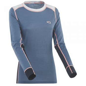 T-Shirt Running / Trail Femme Kari-Traa Lam Long Sleeve - montisport.fr