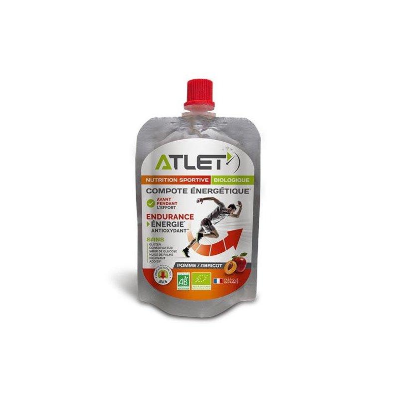 Compote énergétique Bio Pomme/Abricot ATLET - Montisport.fr