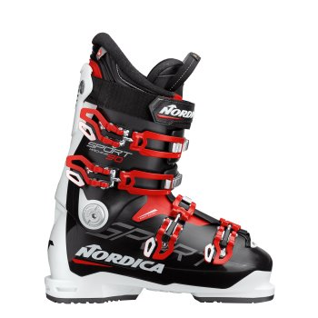 CHAUSSURES SKI HOMME NORDICA SPORTMACHINE 90 N 99 BLACK-WHITE-RED - montisport.fr