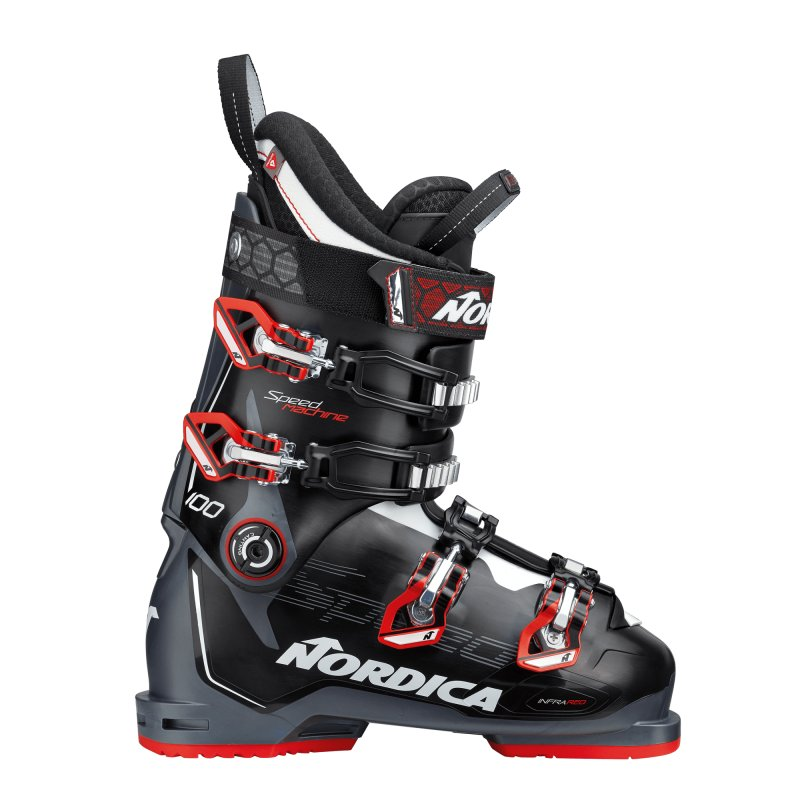 CHAUSSURES SKI HOMME NORDICA SPEEDMACHINE 100 7T1 BLACK-ANTHRACITE-RED - montisport.fr