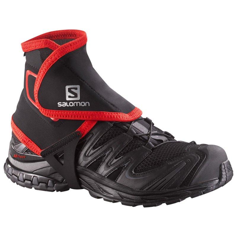 Chaussures Salomon mixte TRAIL GAITERS HIGH BLACK - montisport.fr