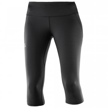 Legging Salomon AGILE MID Tight BLACK femme - www.montisport.fr